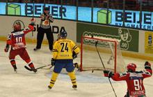 Švédové zahájili poslední turnaj sezóny výhrou nad Ruskem