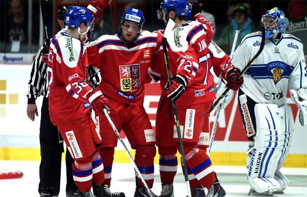 Češi ovládli první zápas ve Finsku, rozhodl Kašpar